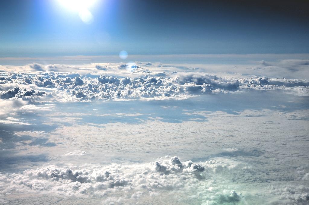 Geschlossene wolkendecke