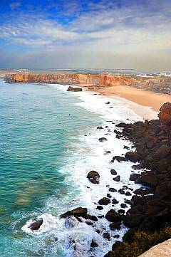 Portugal - Sonnenschirme am Strand