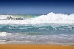 Strandfoto mit Welle